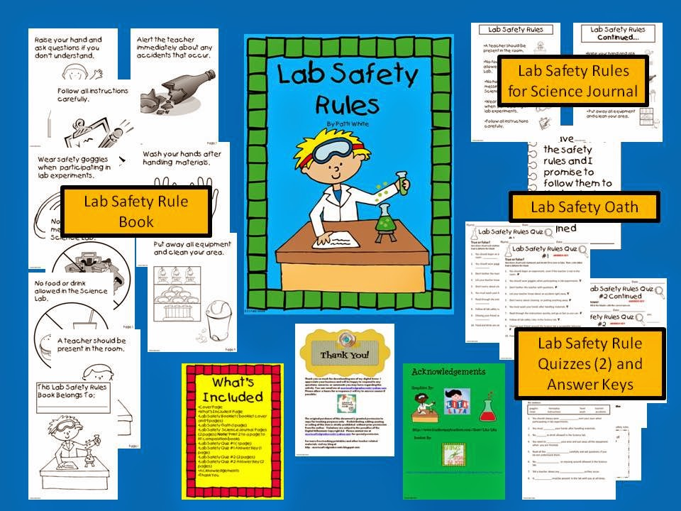 http://www.teacherspayteachers.com/Product/Lab-Safety-Rules-for-Elementary-Students-818448