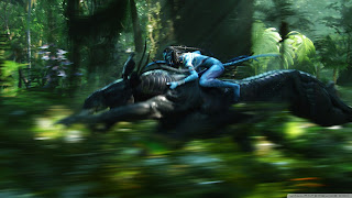 Avatar Neytiri Riding a Pandora wallpapers for pc