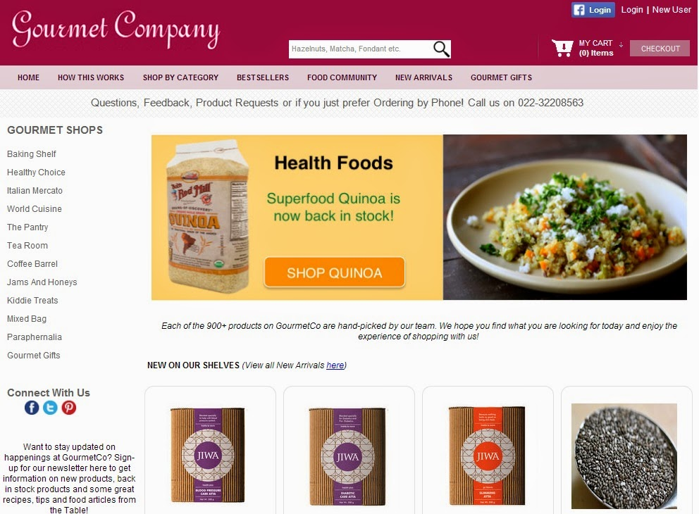 Gourmet food online shopping