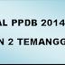 Jurnal Sementara PPDB SMKN 2 Temanggung TH 2014/2015