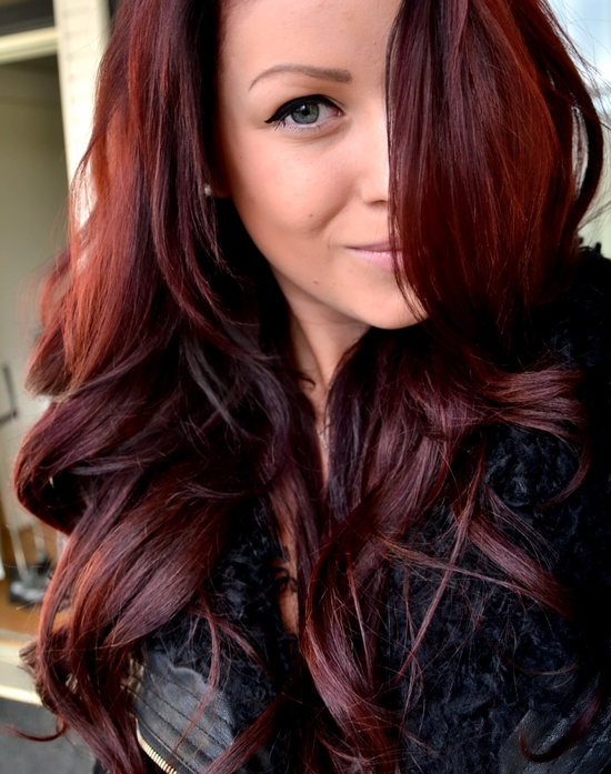 Dark Brown with Red Hair Color