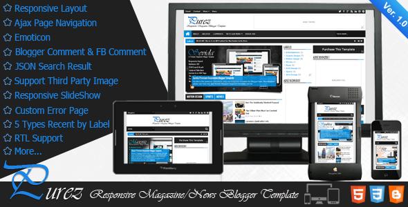 10 Premium Blogger Templates of 2014 - Gorgeous Collection