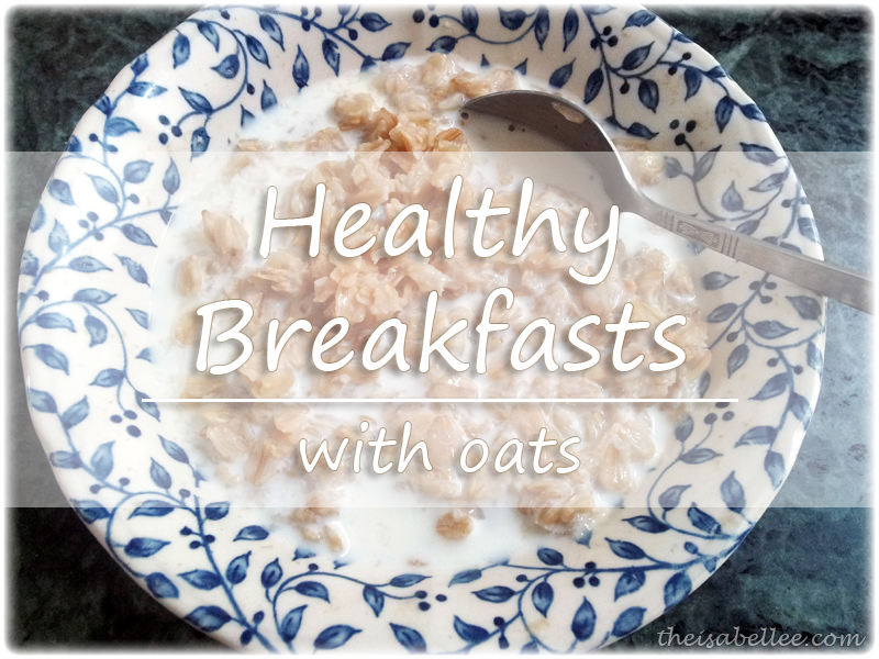 Healthy breakfast with oats