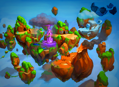 Wizard101 Floating Mountain Concept Art