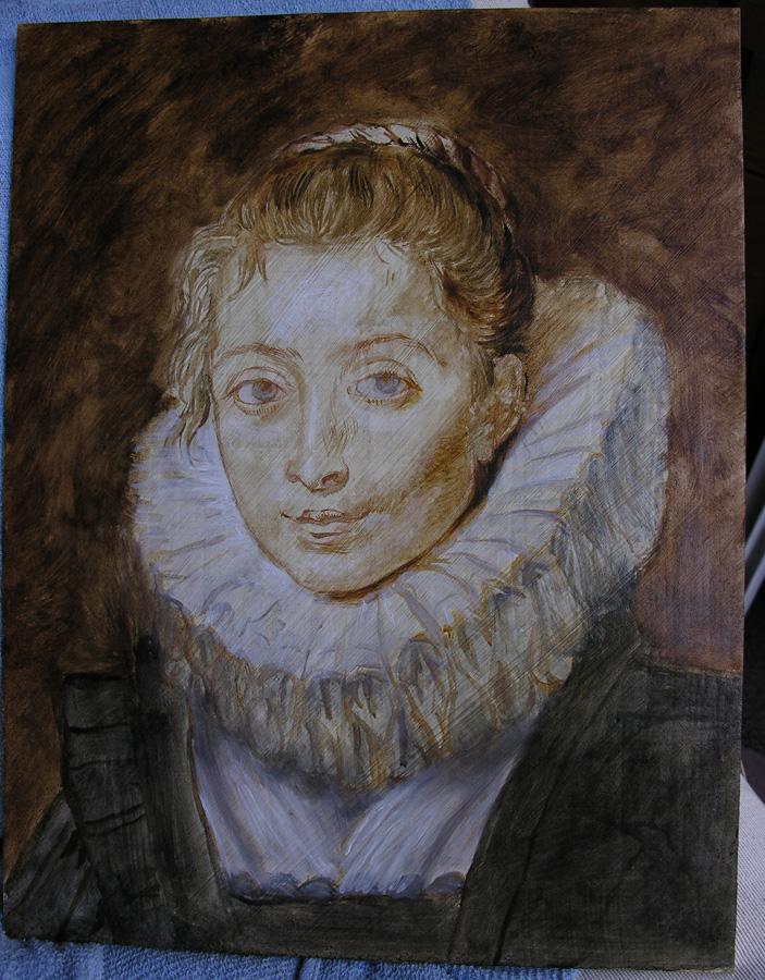 Lala Ragimov Copy after Rubens step 1