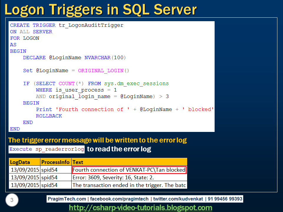 database triggers Are database triggers a bad idea in my experience they are evil, because they can result in surprising side effects, and are difficult to debug (especially when one trigger fires another) often developers do not even think of looking if there is a trigger.