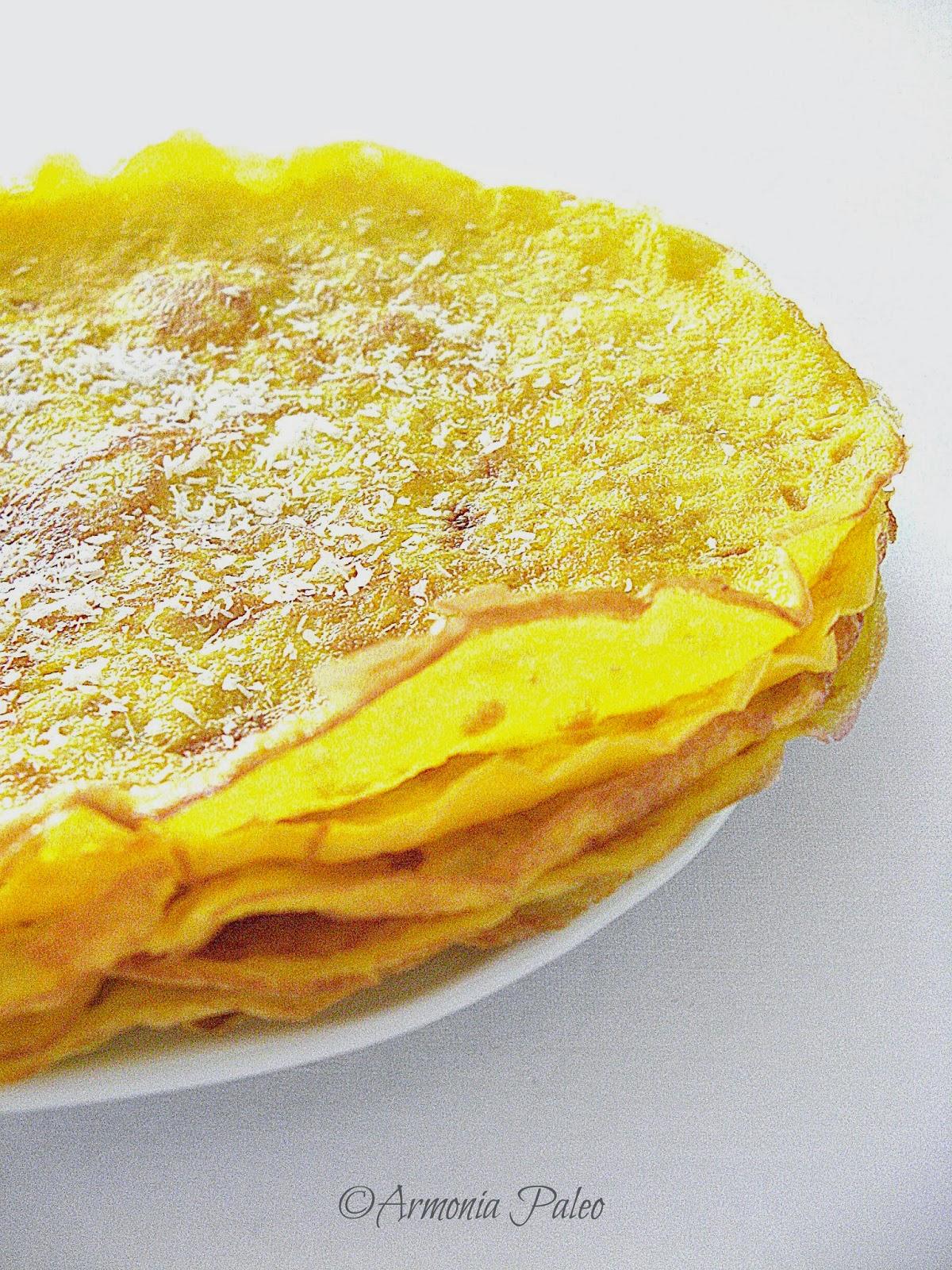Ricetta crepes con farina di cocco