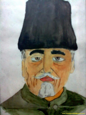 Maulana Abul Kalam Azad painting by Maninder Pal Singh