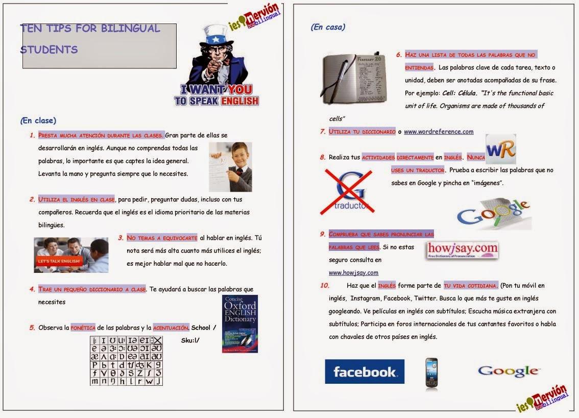 Recomendaciones para alumnos (Descargar cartel)