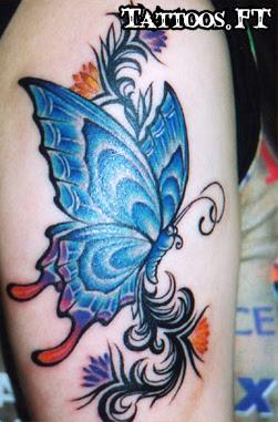 Tatuagens Blue butterfly