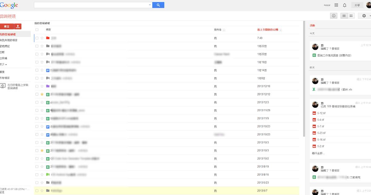 聰明的文件管理方法! Google Drive 即時文件編輯活動動態