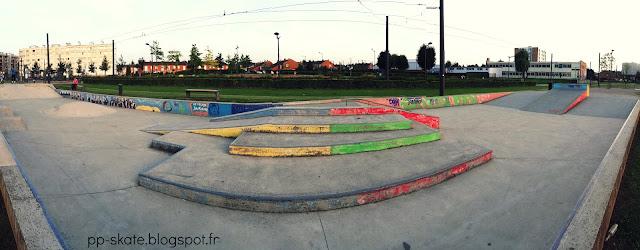 Skatepark Aulnoy lez Valenciennes panoramique