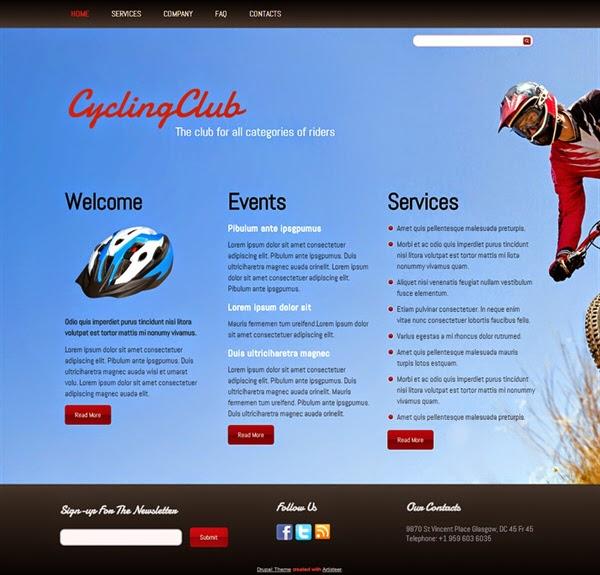 Cycling Club - Free Drupal Theme