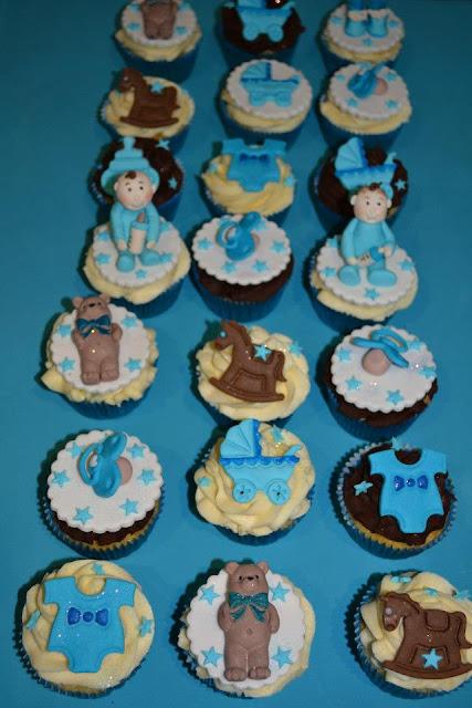 cupcakes detalle bautizo bebe niño niña