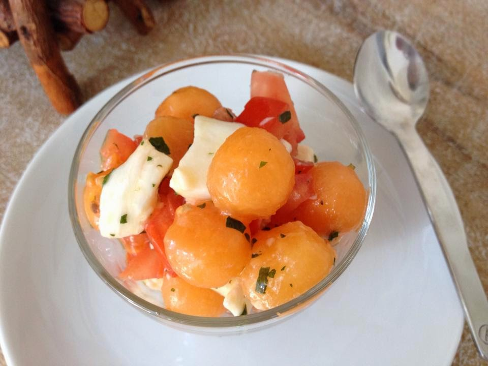 Salade Fra Cheur Melon Tomates Mozzarella En K De