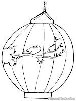 Mewarnai Gambar Hiasan Lampu Lampion