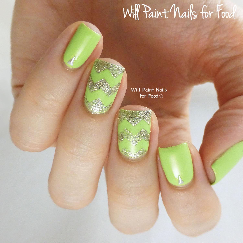 Zazzy chevrons nail art