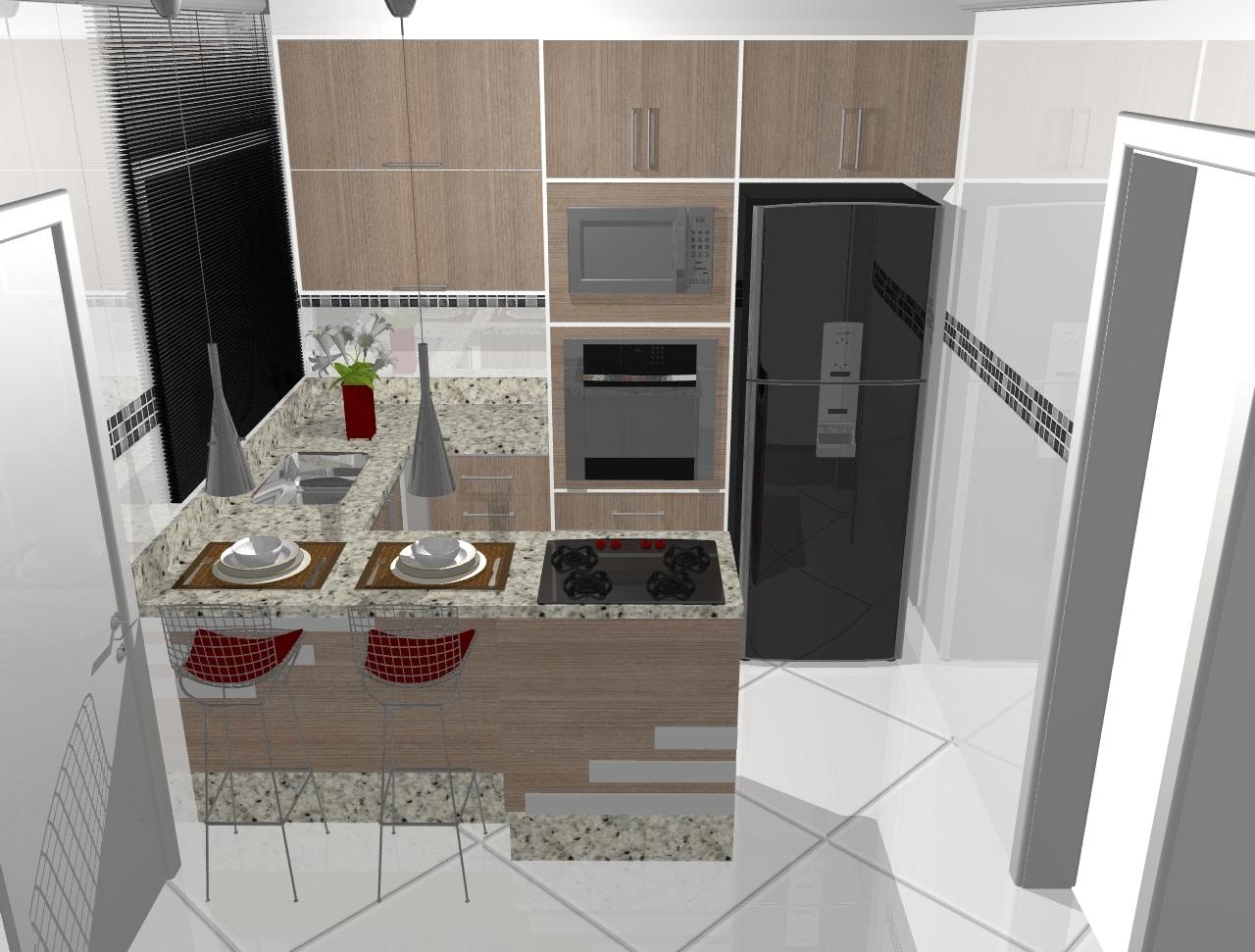 tonalidade da cozinha é linda!!!! Super clean sabe!!! #516327 1280 971