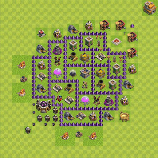 Formasi Base Clash of Clans TH7 Farming 3