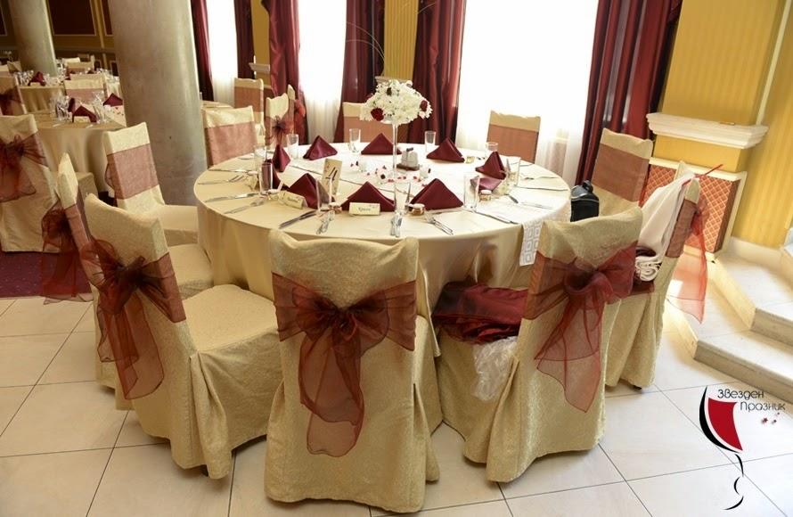 Декорация на масите на гостите