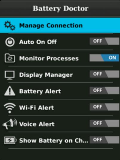 تطبيق مجاني لتوفير الطاقة والحفاظ علي عمر البطارية لأجهزة بلاك بيري Battery Saver Free-Battery Doctor BB 5