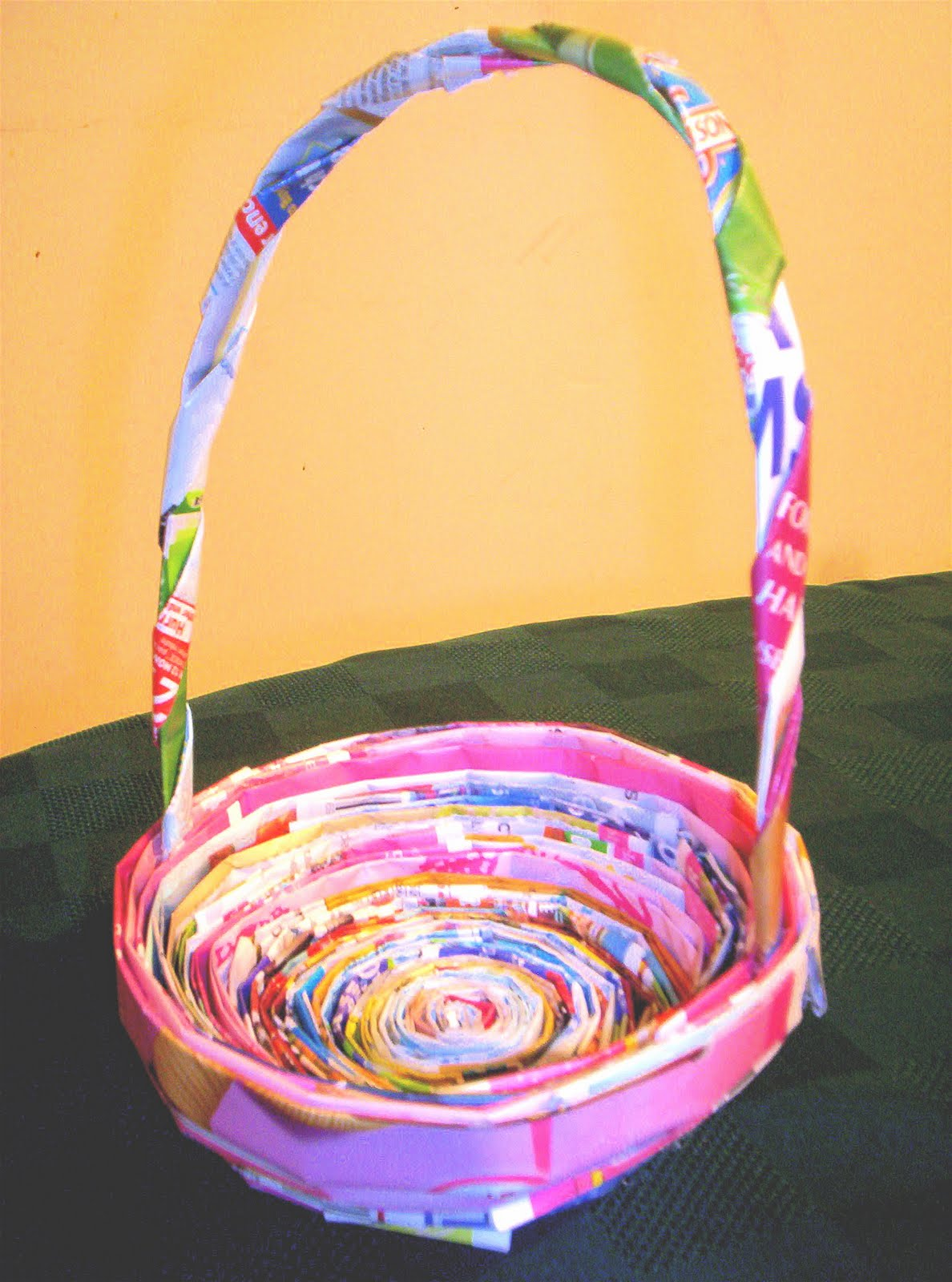 Roots of simplicity recycled newspaper easter baskets recycled newspaper easter baskets negle Images