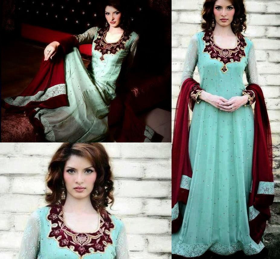 new fashion in pakistan pakistani maxi style party dress 2015