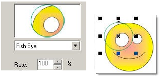 lựa chọn độ hiển thị cho kính lọc khi sử dụng lệnh Lens