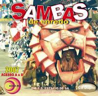 foto da capa do cd sambas de enredo 2007 grupo de acesso