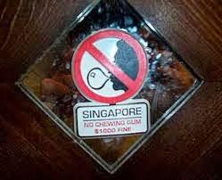 chewing gum di Singapore