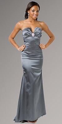 Vestidos de fiesta color gris plomo