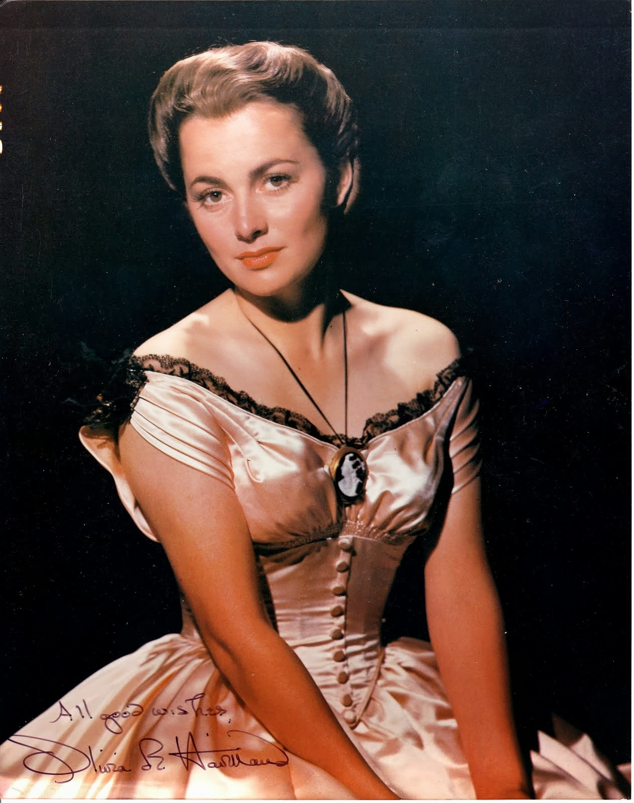 Academy Award Winner Olivia de Havilland auto. 8x10 photo