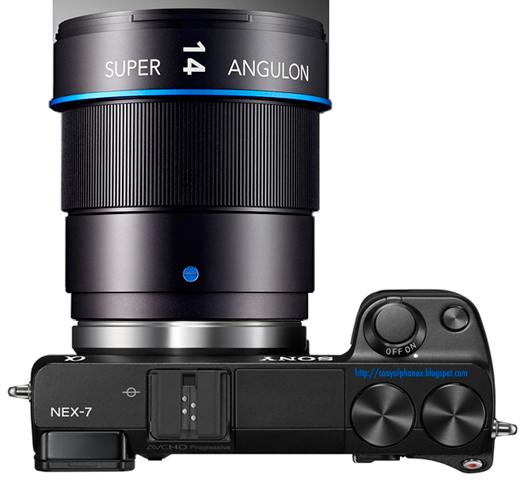 sony nex schneider kreuznach 14mm super angulon lens