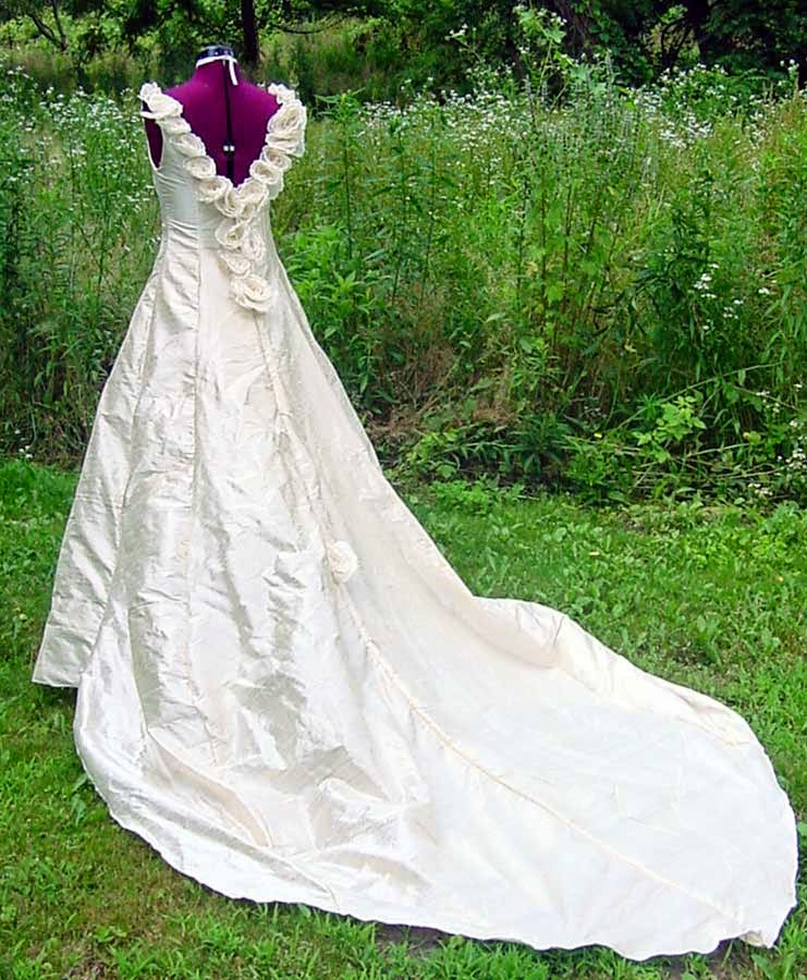 Celtic Wedding Dresses Patterns Long Trains Design