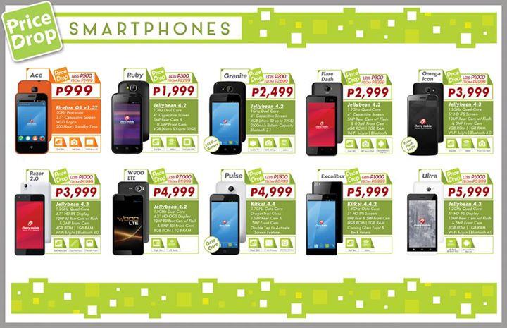 Cherry Mobile February 2015 Price Drop