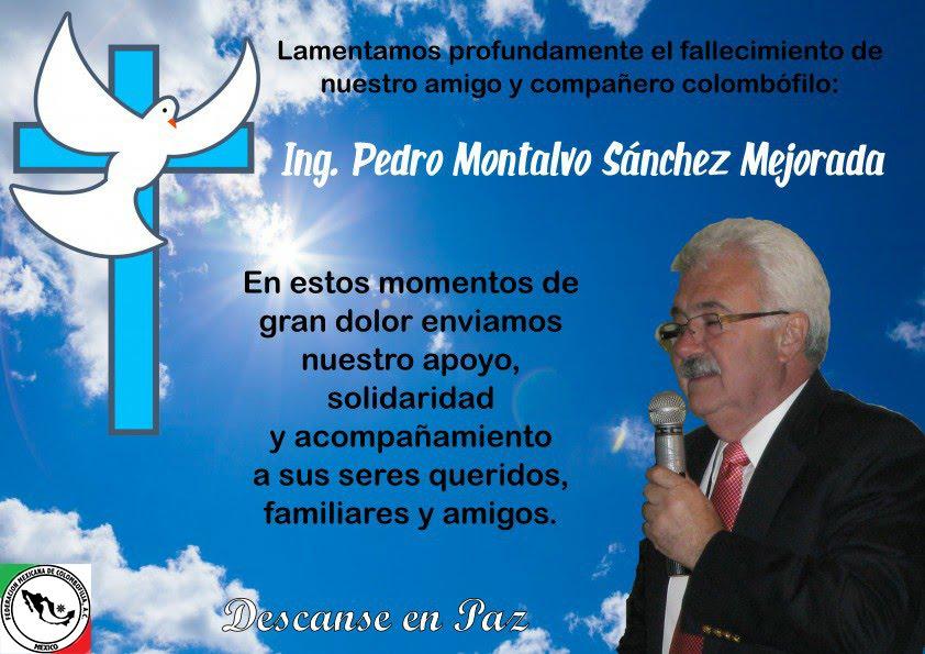 Descanse en paz Ing. Pedro Montalvo 07/30/2017.