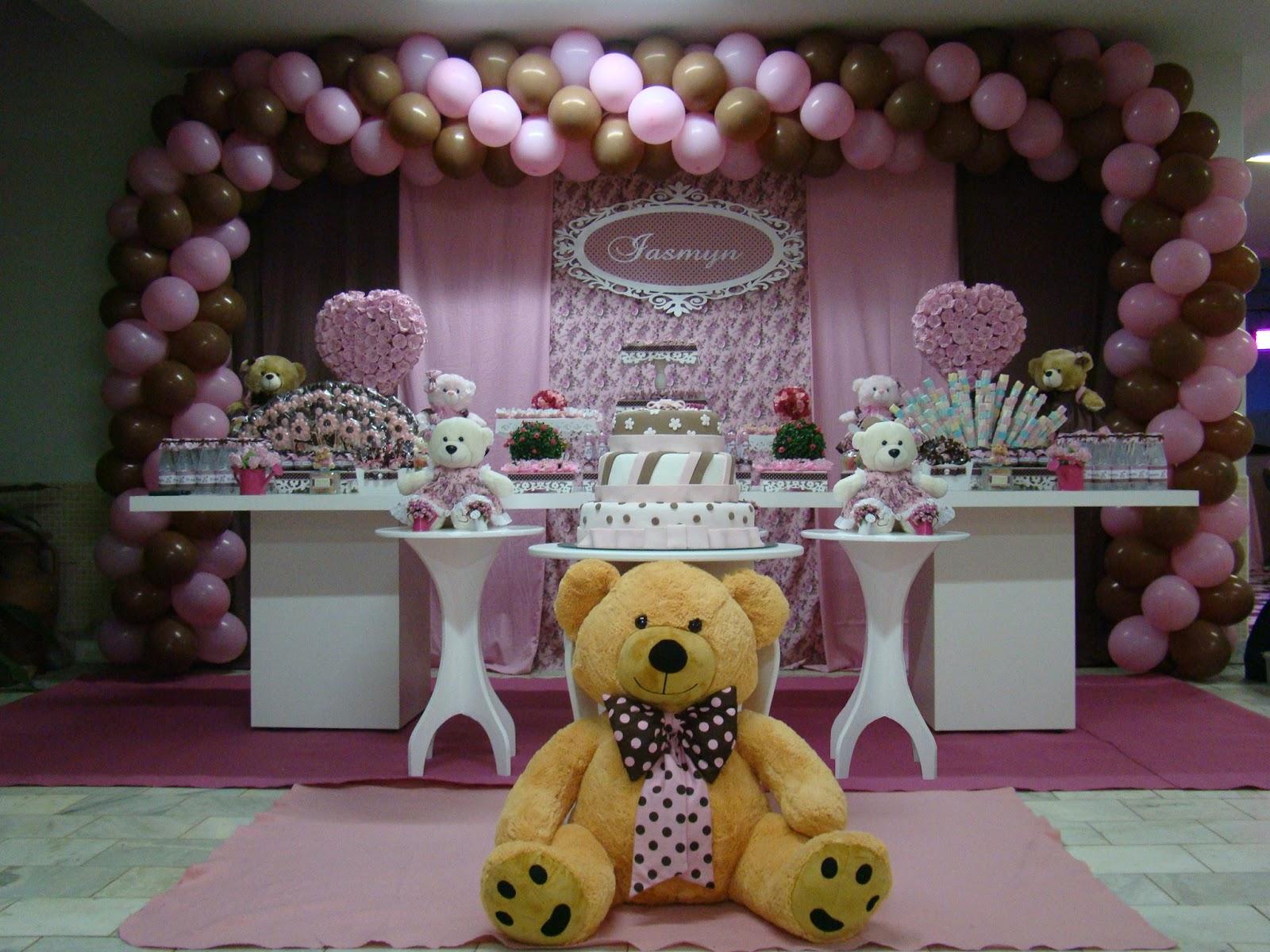 decoracao festa ursa marrom e rosa: Eventos (EC Decorações e Eventos): Festa Ursa Rosa e Marrom
