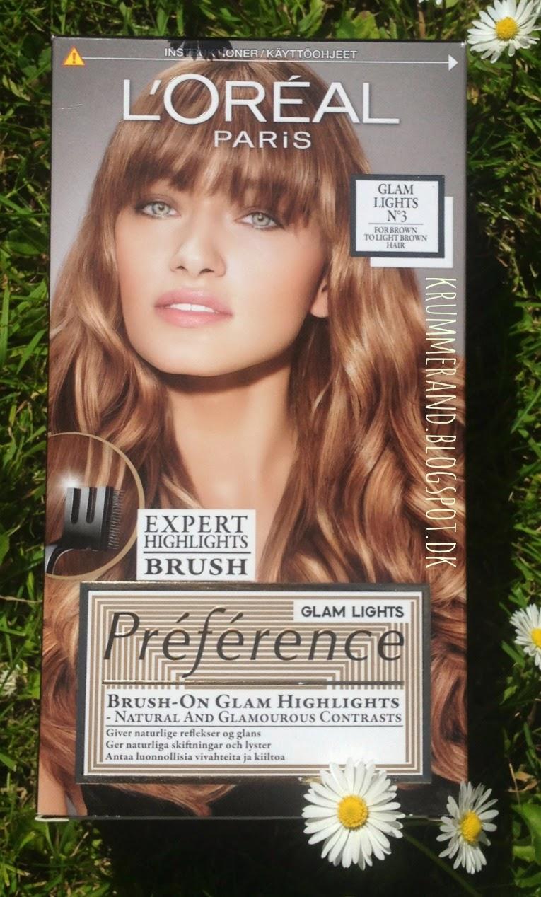loreal hårfarve med striber