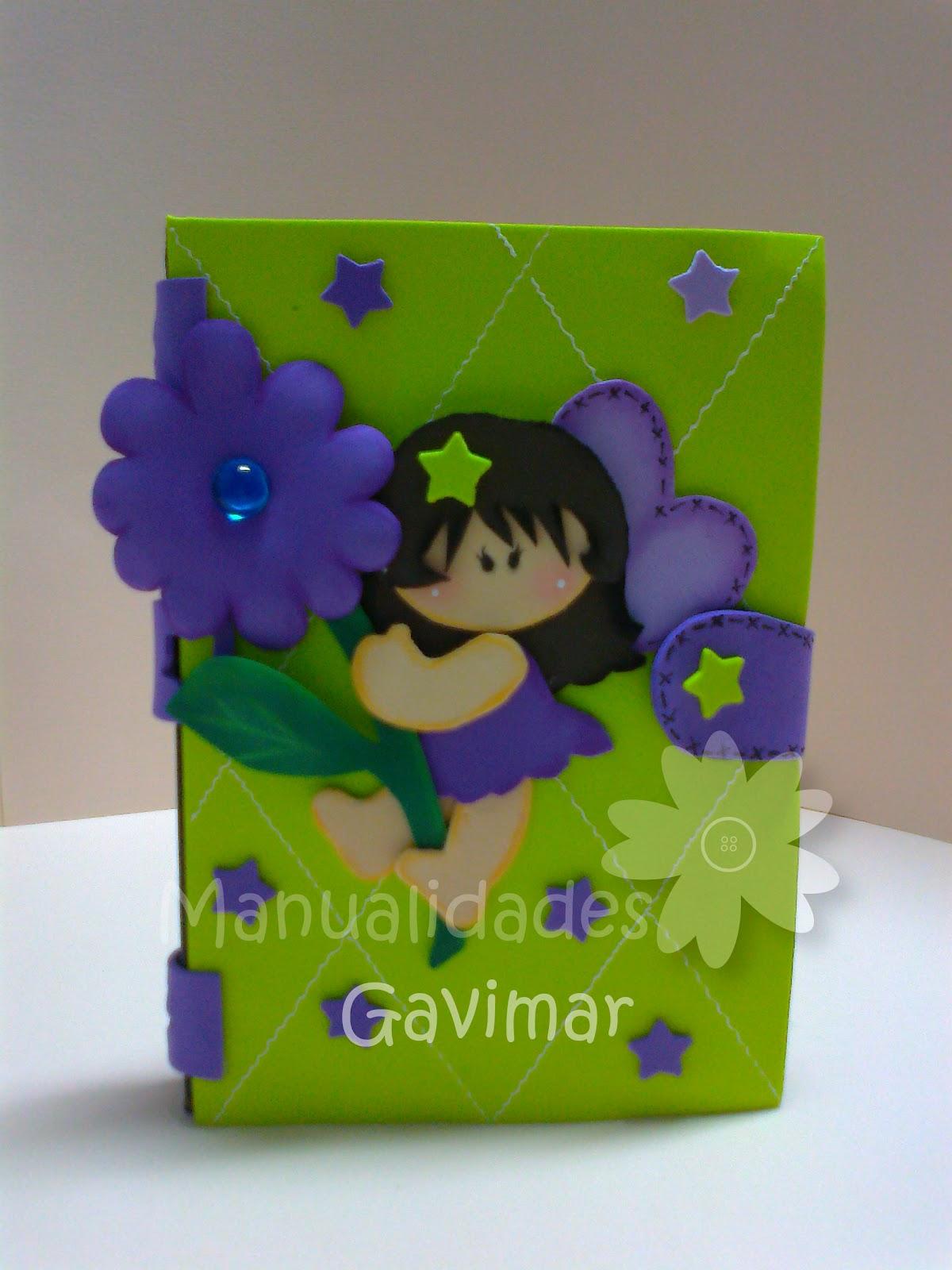 Manualidades gavimar libreta decorada foami mini - Decoracion goma eva infantil ...