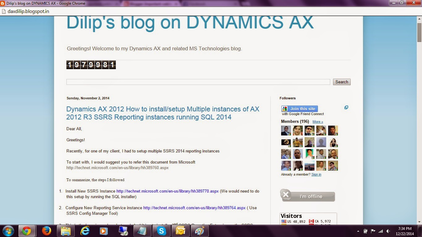 Dynamics AX and related Microsoft Technologies