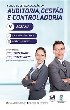 CURSO DE ESPECIALIZAÇÃO EM AUDITORIA, GESTÃO E CONTROLADORIA