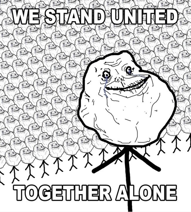 More funny | Meme | Rage Comics: We stand united - together alone