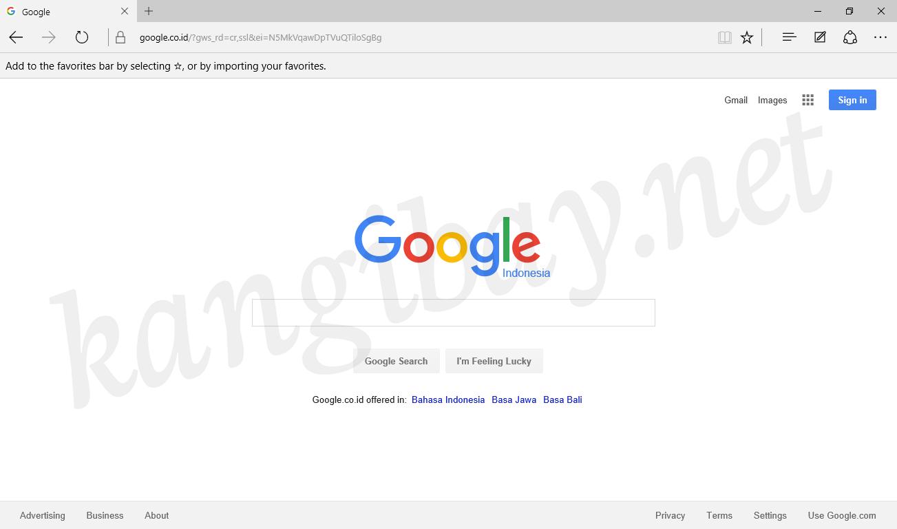 Cara Mudah Setting Mode Pencarian Google Pada Microsoft Edge