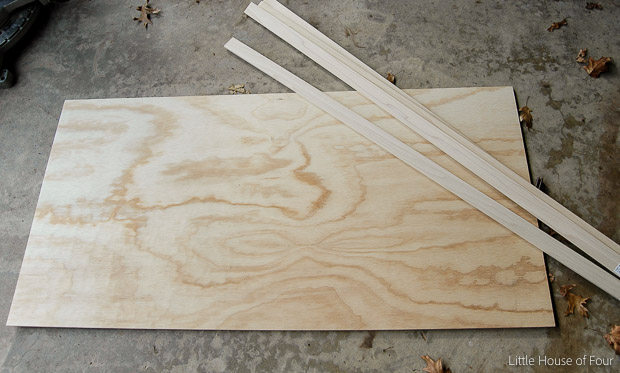 DIY Herringbone Cork Board- Little House of Four