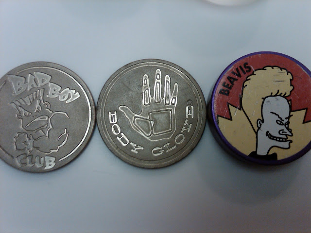1990s pogs slammers Beavis body glove bad boy