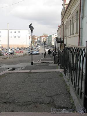 Улица Миславского, лестница