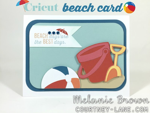 Cricut Beach Day card
