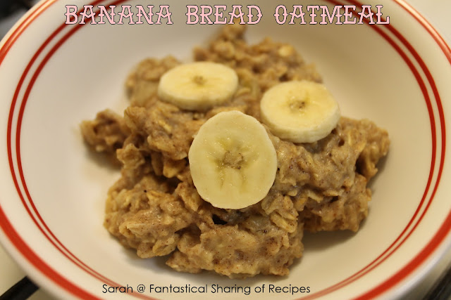Banana Bread Oatmeal - a flavorful breakfast in under 15 minutes! #banana #oatmeal #breakfast
