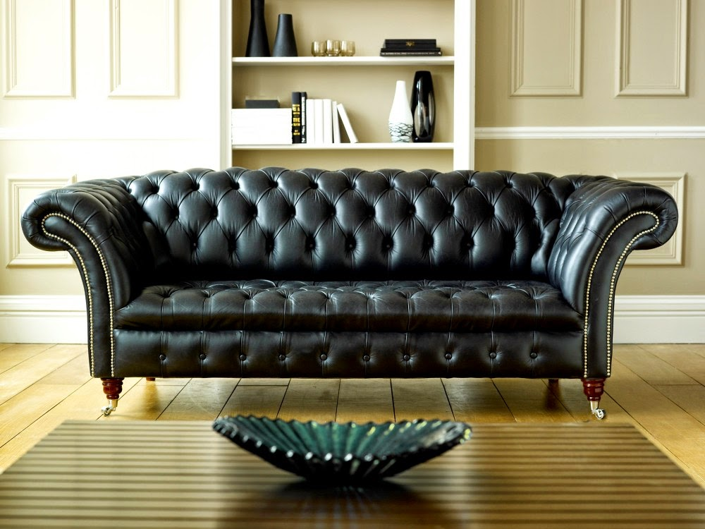 Black Leather Chesterfield Design