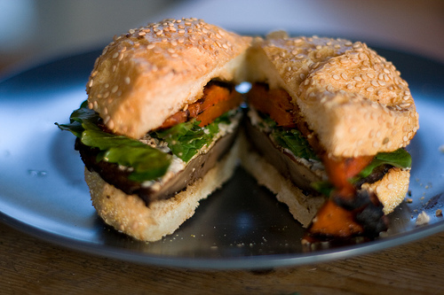 Grilled Portobello Mushroom Burger for Fourth of July